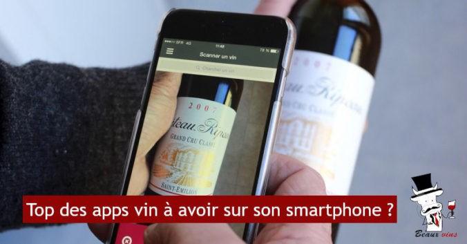 blog vin beaux-vins top apps smartphone