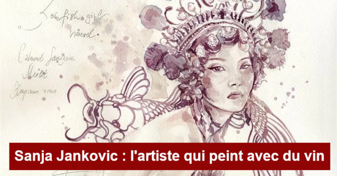 Blog Beaux-Vins dégustation oenologie vin peindre peinture Sanja Jankovic artiste Koifish girl menu