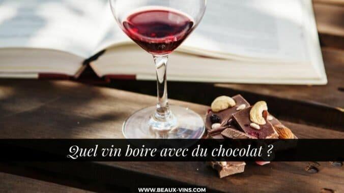 Quel vin boire avec le chocolat