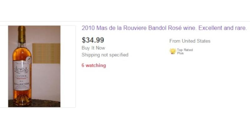 blog vin Beaux-Vins oenologie dégustation bandol rosé ligne ebay wine