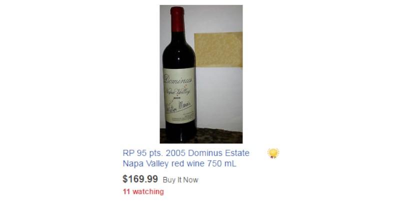 blog vin Beaux-Vins oenologie dégustation dominus estate ligne ebay wine