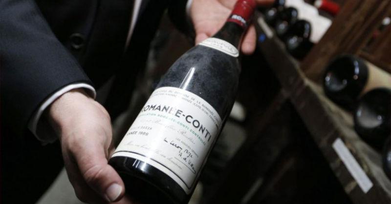 vente aux encheres contrefacon vin romanee conti