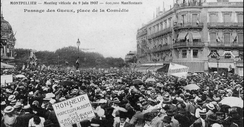 BBlog vin Beaux-Vins région viticole Languedoc-Roussillon histoire Manifestion 1907