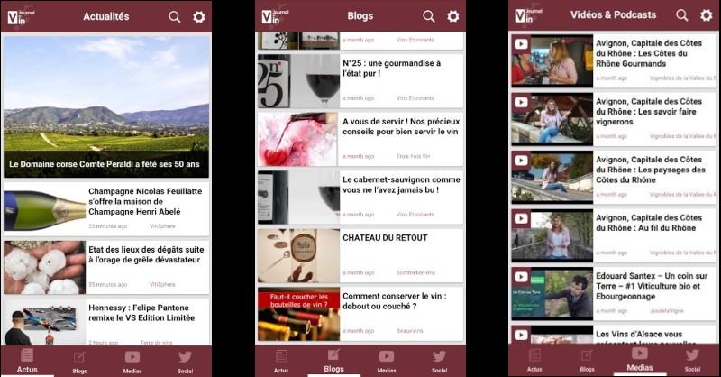 blog vin Beaux-Vins application 2019 smartphone oenologie Journal du Vin