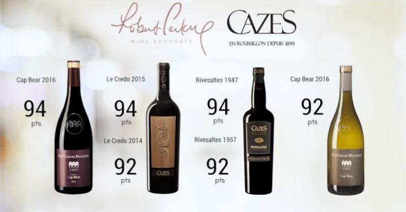 blog vin Beaux-Vins oenologie dégustation note robert parker domaine cazes