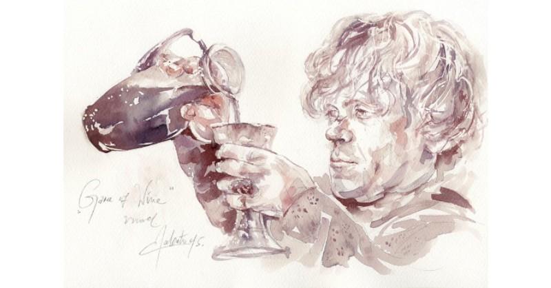 Blog Beaux-Vins dégustation oenologie vin peindre peinture Sanja Jankovic Game of Thrones Tyrion