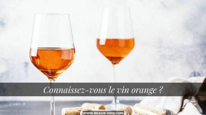quest ce que le vin orange