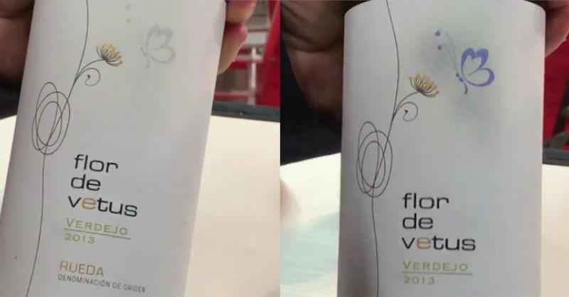 blog beaux-vins etiquette thermocrome flor de venus.