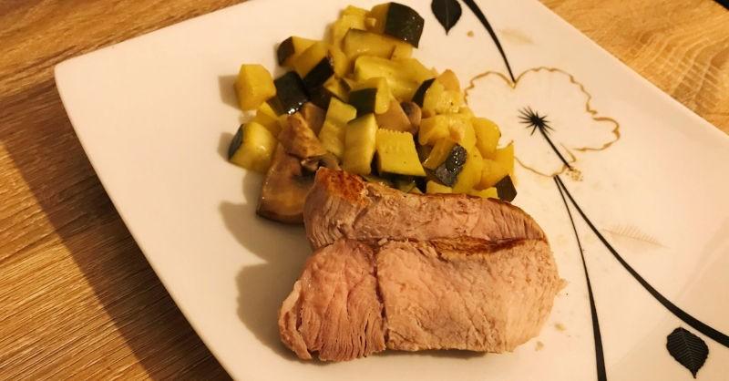 blog vin recette cuisine rotie veau courgette