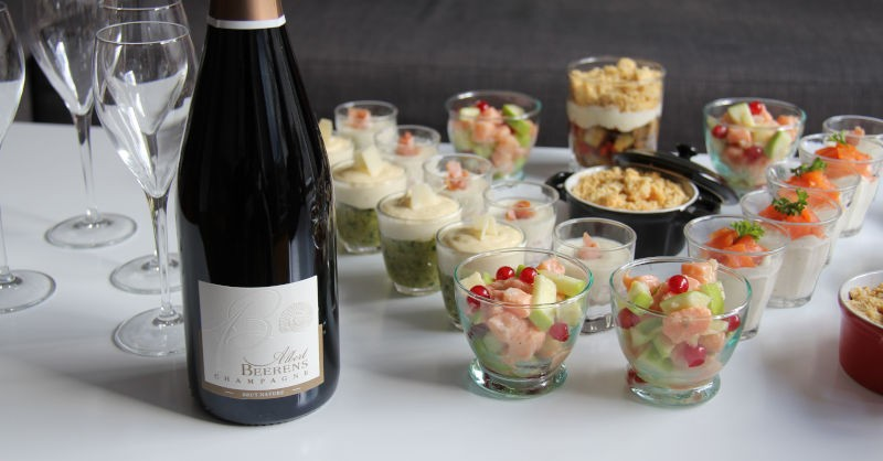 Accord recette verrines champagne albert beerens aperitif dinatoire blog beaux-vins