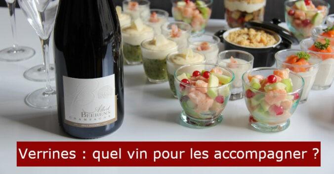 blog beaux-vins Accord champagne recette verrines aperitif dinatoire