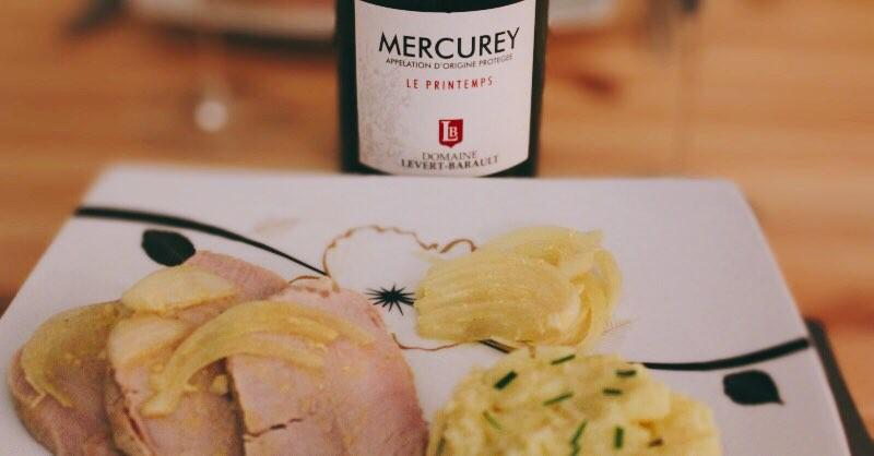 Blog vins Beaux-Vins accords mets vin mercurey roti de porc miel moutarde