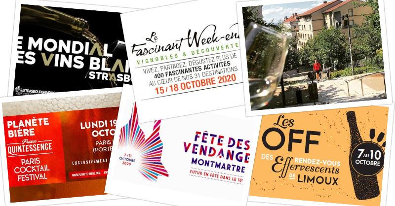 blog beaux-vins Vos evenements vin a ne pas manquer en Octobre 2020