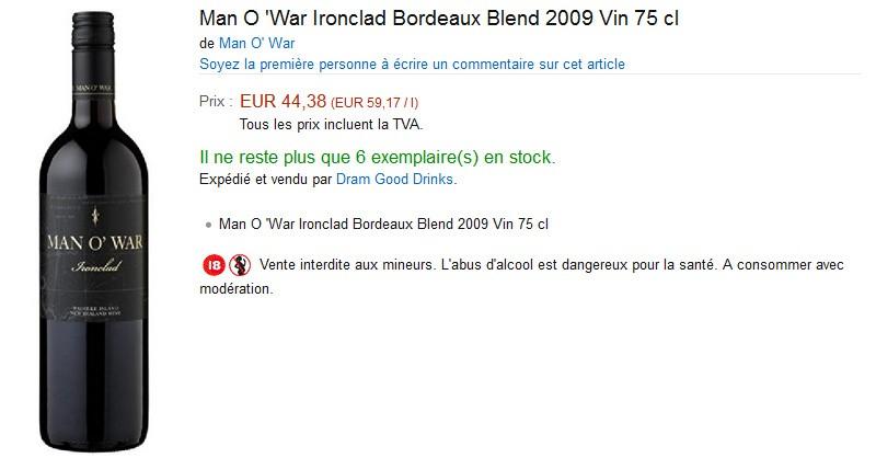 blog vin beaux-vins amazon vin Bordeaux Blend