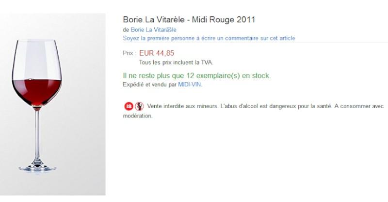 blog vin beaux-vins amazon vin Borie Verre