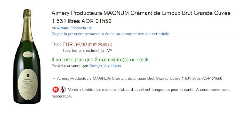 blog vin beaux-vins amazon vin Magnum cremant de limoux