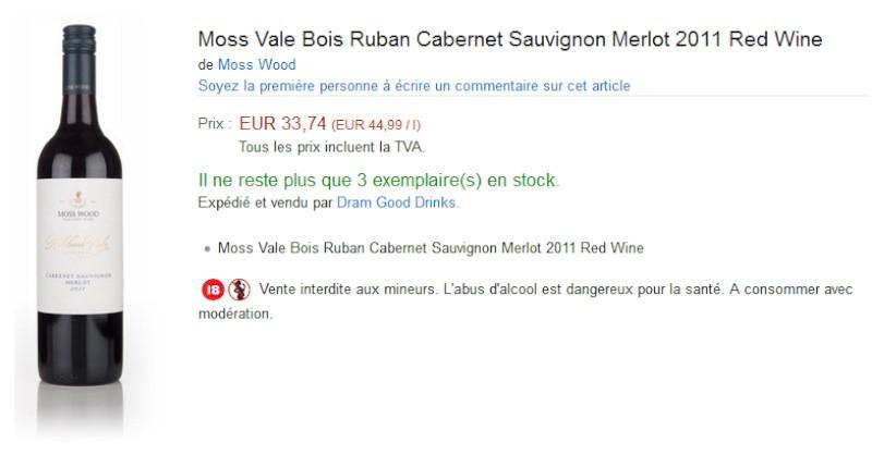 blog vin beaux-vins amazon vin Moss Vale Bois