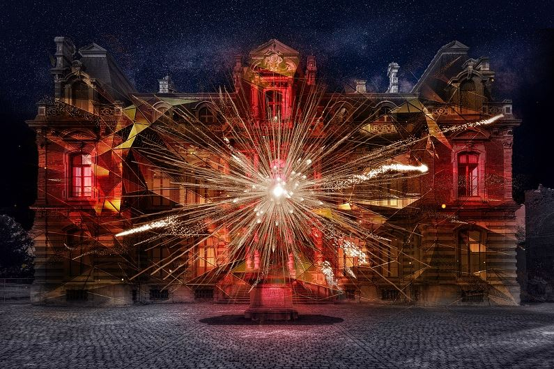 Visuel video-mapping Musee Quartiers d'hiver 2020