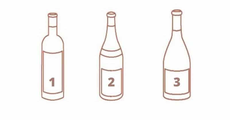 Formes bouteille vin