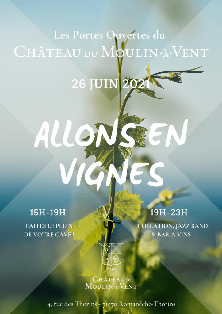 Allons en Vignes - affiche - 297 x 420