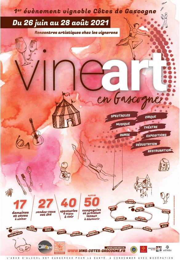 affiche VINEart en Gascogne