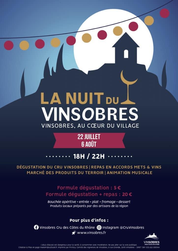 Affiche Nuit du Vinsobres-22 juillet +6 aout